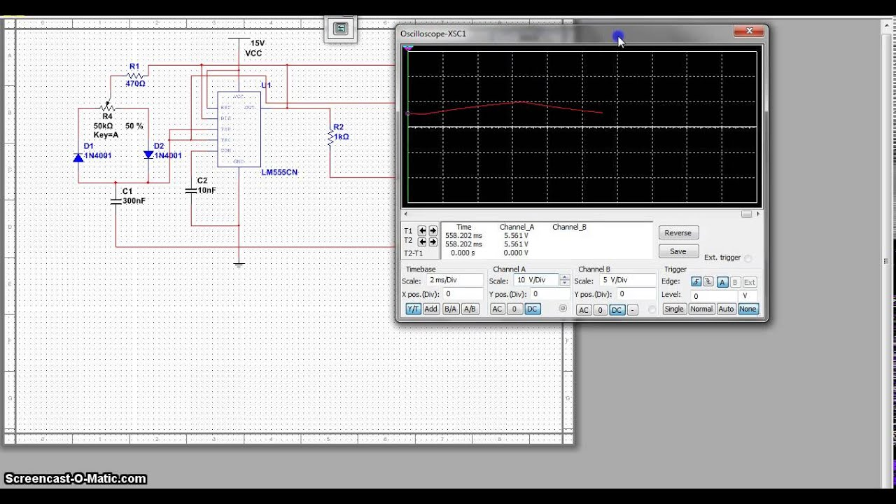 Pulse Width Modulation Using A 555 Timer Circuit Youtube Monostable