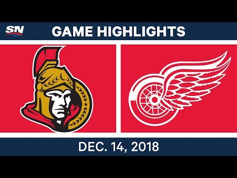 NHL Highlights | Senators vs. Red Wings - Dec 14, 2018