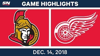NHL Highlights | Senators vs. Red Wings - Dec 14, 2018