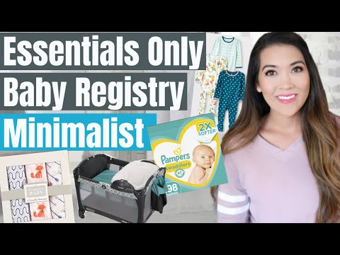 NEWBORN ESSENTIALS ONLY BABY REGISTRY *Minimalist Baby Registry* | Baby On A Budget Registry Tips