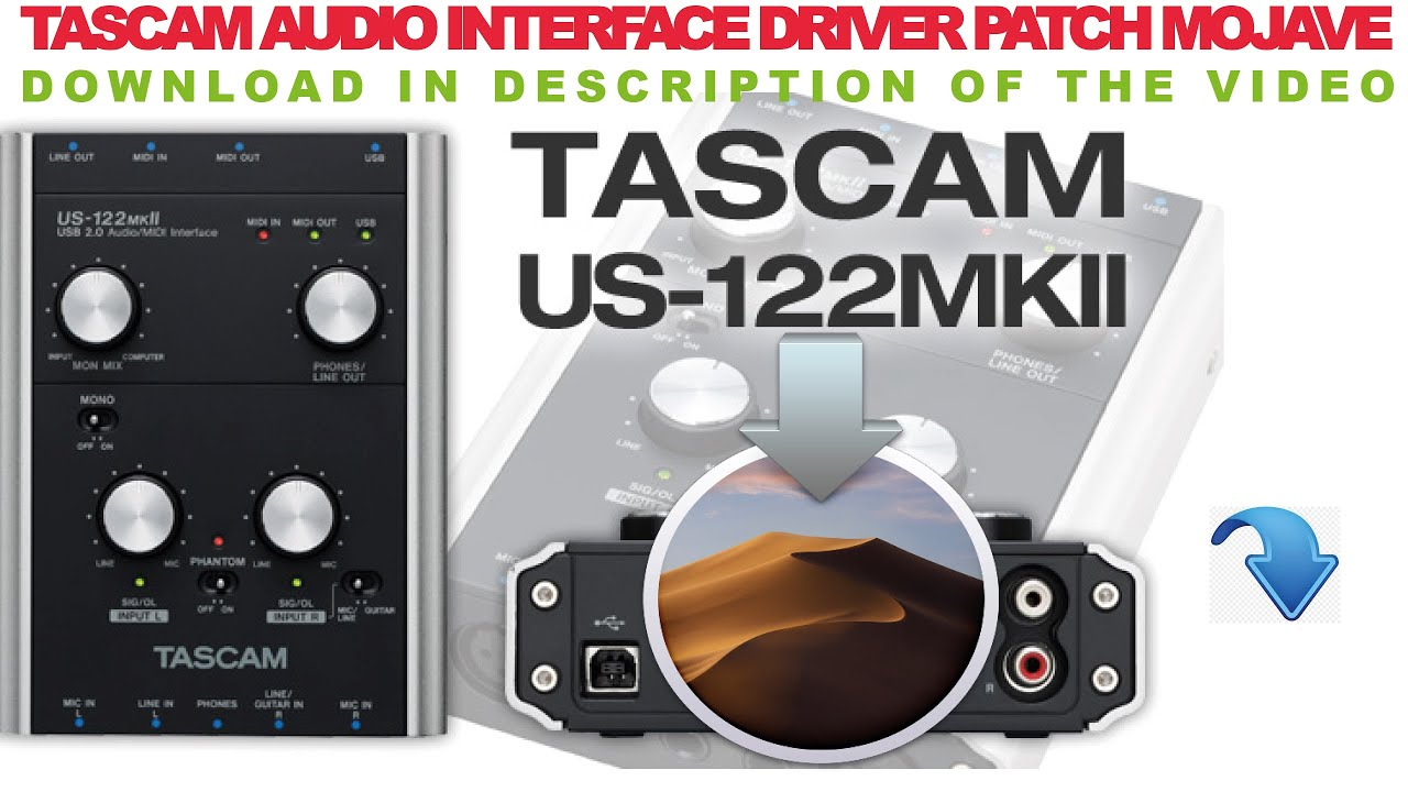 TASCAM US 122 MKII Mojave patch driver