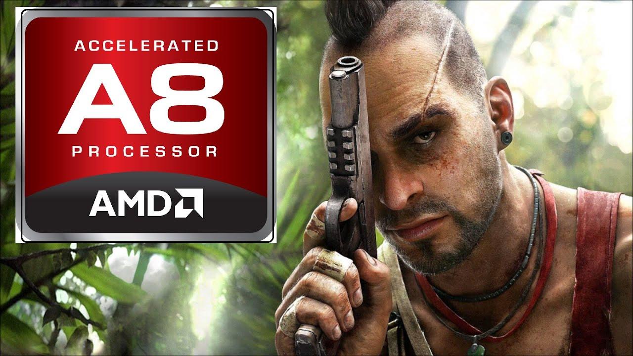 Far Cry 3 on AMD A8-7410 with Radeon R5 Graphics [HP 14-af118au]