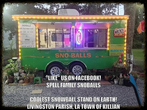 Best Snowball Stand in the South.  Livingston Parish Tickfaw River Behind the Scenes