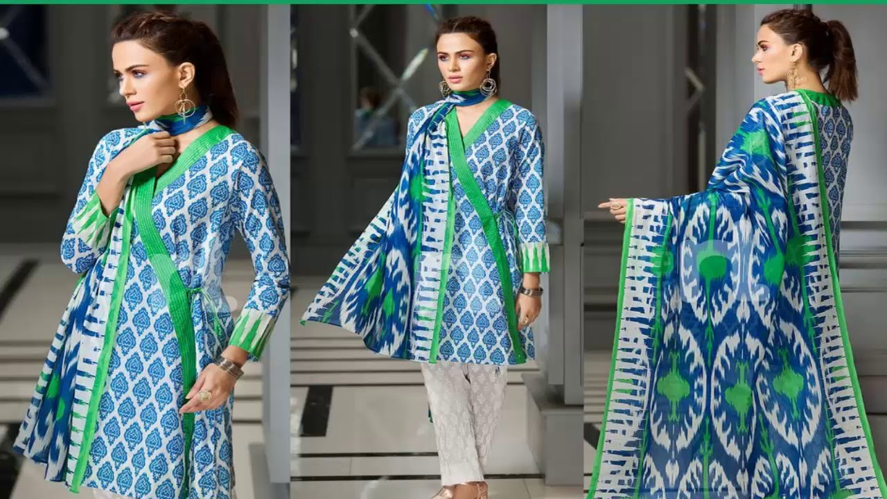 983eb87e2b2 Nishat Linen Spring Summer 3-Piece Collection 2018 With Price - YouTube