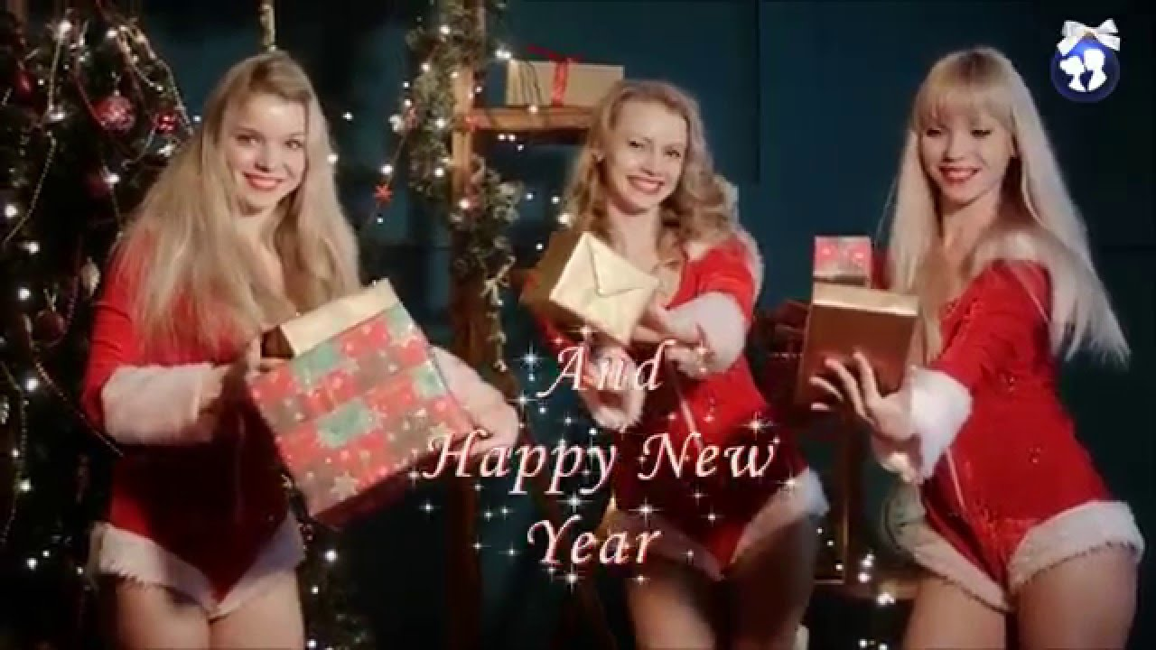 Merry Christmas And Happy New Year Ukrainian Girls Santa Helpers