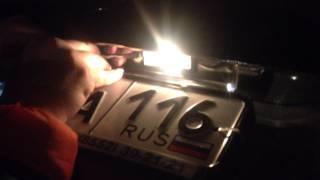 Замена лампочек в плафоне подсветки номера Renault Duster 2