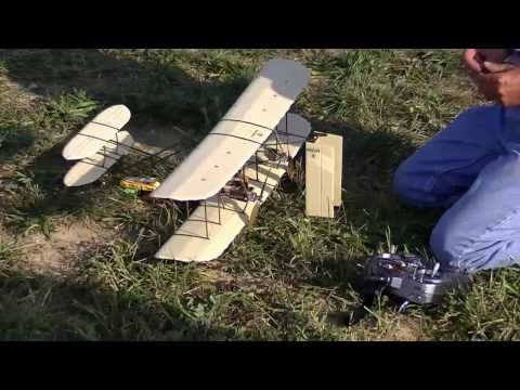 Jim S - Home built Wright Brother's Wright Flyer RC Electric Model Airplane 2010-09-19