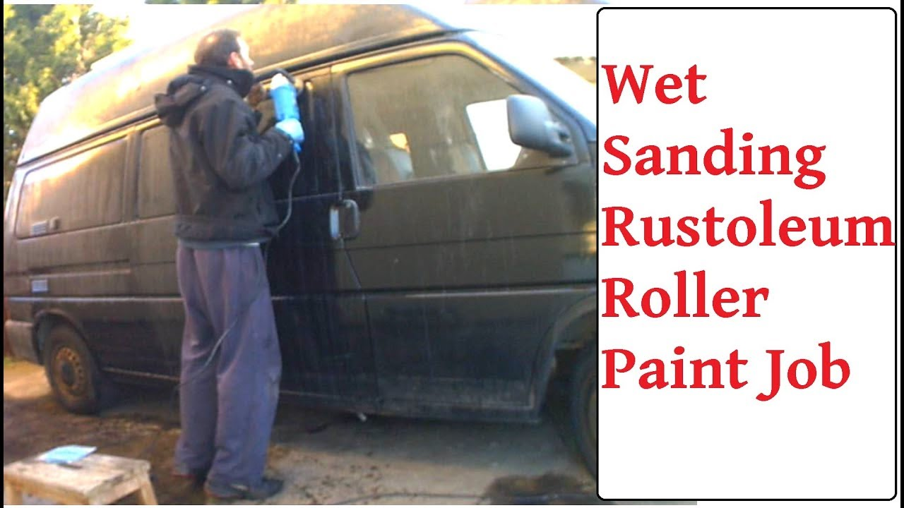 Wet Sanding Rust-Oleum Roller Paint Job