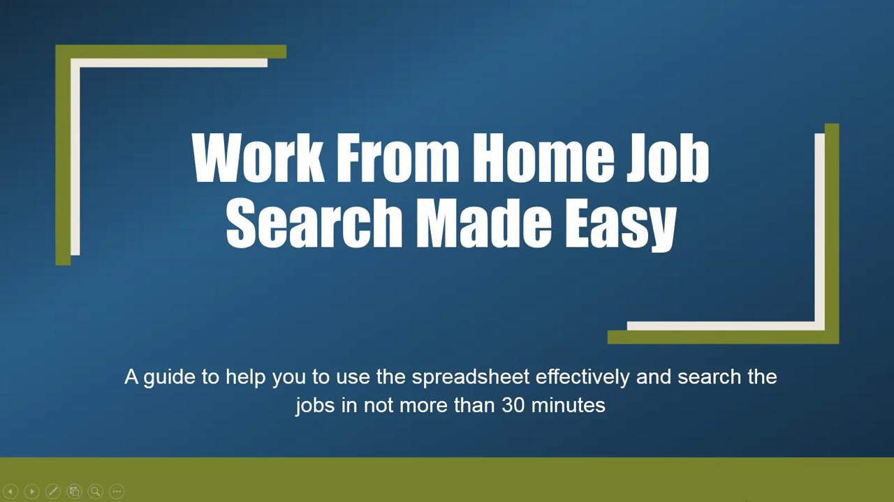 Easy Work From Home Jobs