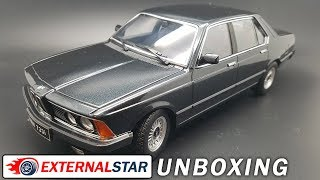 BMW 733i E23 1977 black 1:18 KK Scale | Review and unboxing
