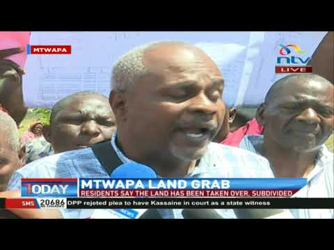 Mtwapa land grab: Residents say the land has been taken over