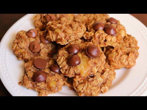 Easy Healthy Banana Oatmeal Cookies