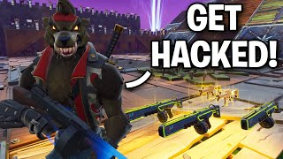 Weird scammer HACKS ME!! 😞😂 (Scammer Get Scammed) Fortnite Save The World