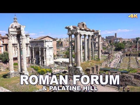 ROMAN FORUM & PALATINE HILL - ROME , ITALY 2017 4K