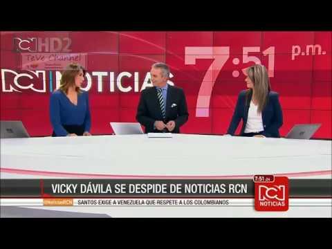 Despedida de VICKY DAVILA del set de Noticias RCN