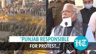 'Punjab farmers protesting', says Haryana CM; SP chief's jibe over 'injustice'
