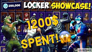 RARE Fortnite Locker showcase! Skins i regret buying (WORTH 1200+ $$$)