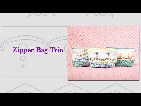 "Block Party January 2017 ""Zipper Bag Trio"""