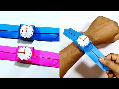 Origami Wrist Watch For Kids || How To Make Paper Wrist Watch || DIY