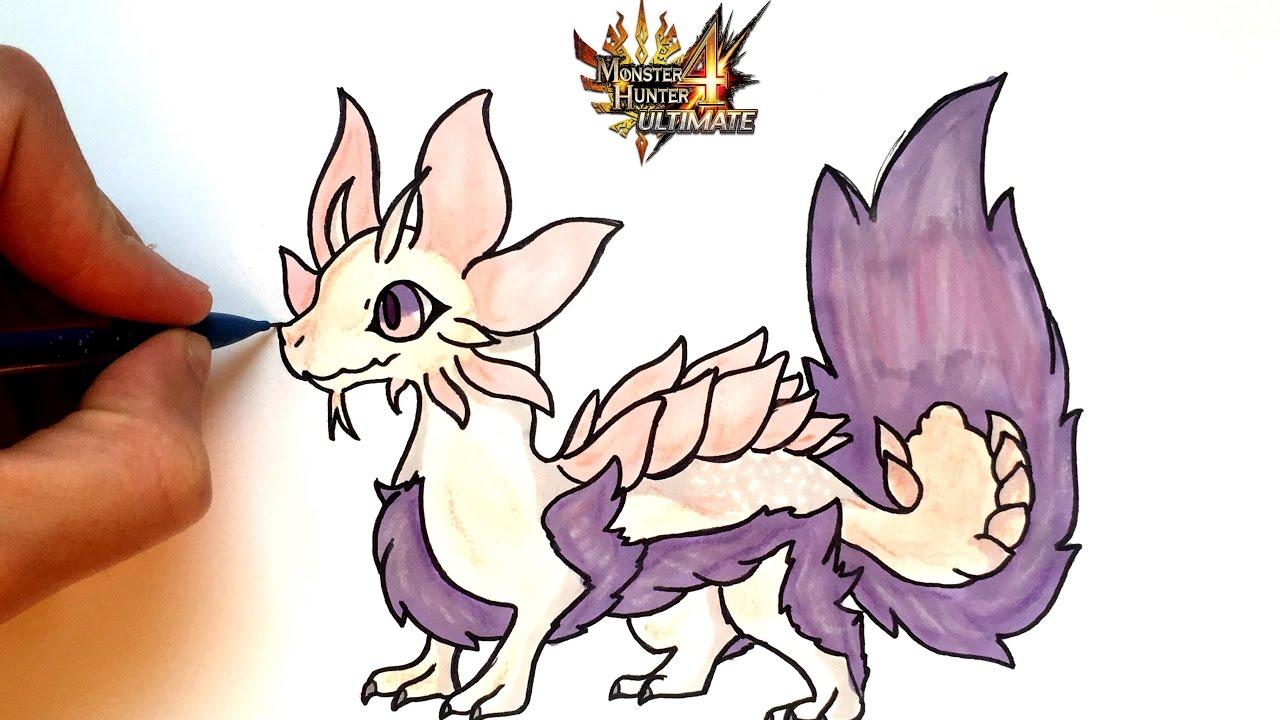 Draw Mizutsune Kawaii Monster Hunter
