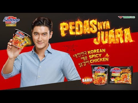 Mie Sedaap Cup Selection Korean Spicy Chicken x Siwon, Pedasnya Juara