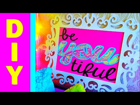 Ideal DIY Wall Art and Room Decoration Frame Ideas Inspirational Quote CupsofDelight