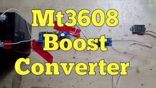 Use Mt3608 Boost Converter  with out load Test/review 01