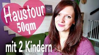 😱 50 qm kleine HAUSTOUR / Roomtour 🏡 | So leben wir mit 2 Kindern | Rebekka