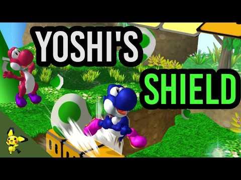 All About Yoshi's Incredibly Weird Shield! - Super Smash Bros. Melee
