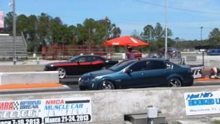 Pontiac G8 Gt vs Dodge Challenger run #2