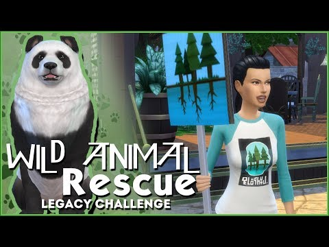 Scouting Out Animal Rescue Volunteers! 🌿Sims 4 Wild Animal Rescue Challenge #4