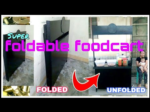 how to make a wooden foldable foodcart