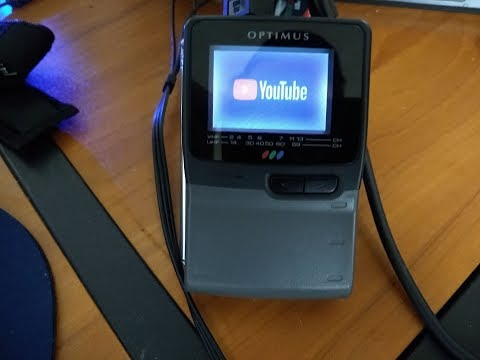 YouTube & More On A '90s Handheld TV