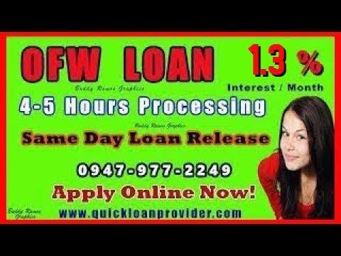 OFW Loan 4 to 5 Hours Process, 1 Day Release & Low Interest Loan