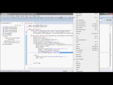 mongoDB Tutorial 02 (Java Authentication + insert JSON data)