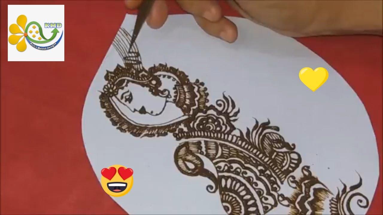 handmade mehndi card design