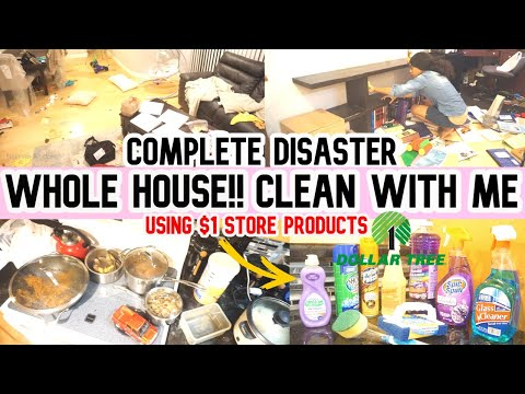 WHOLE HOUSE COMPLETE DISASTER //CLEAN WITH ME //CLEANING MOTIVATION//SAHM