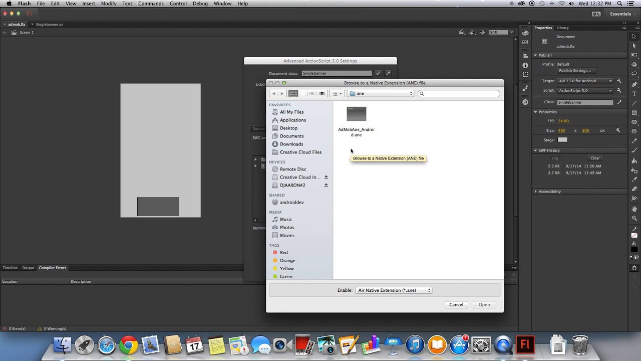 Admob And Adobe Flash Cs6  Create Admob App With Ane