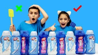 Don't Choose the Wrong Hair Gel Slime Challenge!