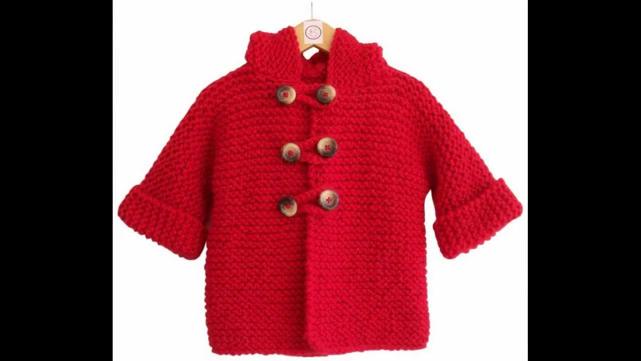 Como hacer chaquetas de punto para ninos