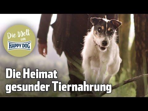"""Happy Dog """"Wir sind die Heimat gesunder Tiernahrung"""""""