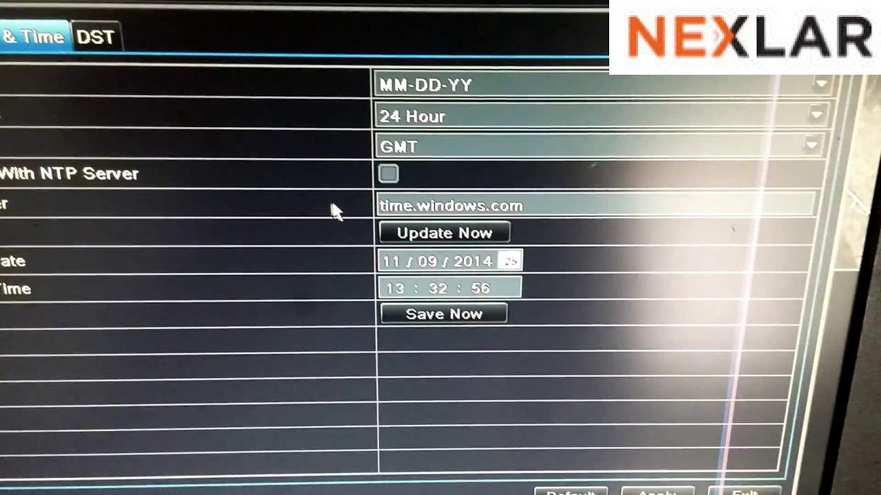 change date and time of your DVR and NVR Hikvision and LTS