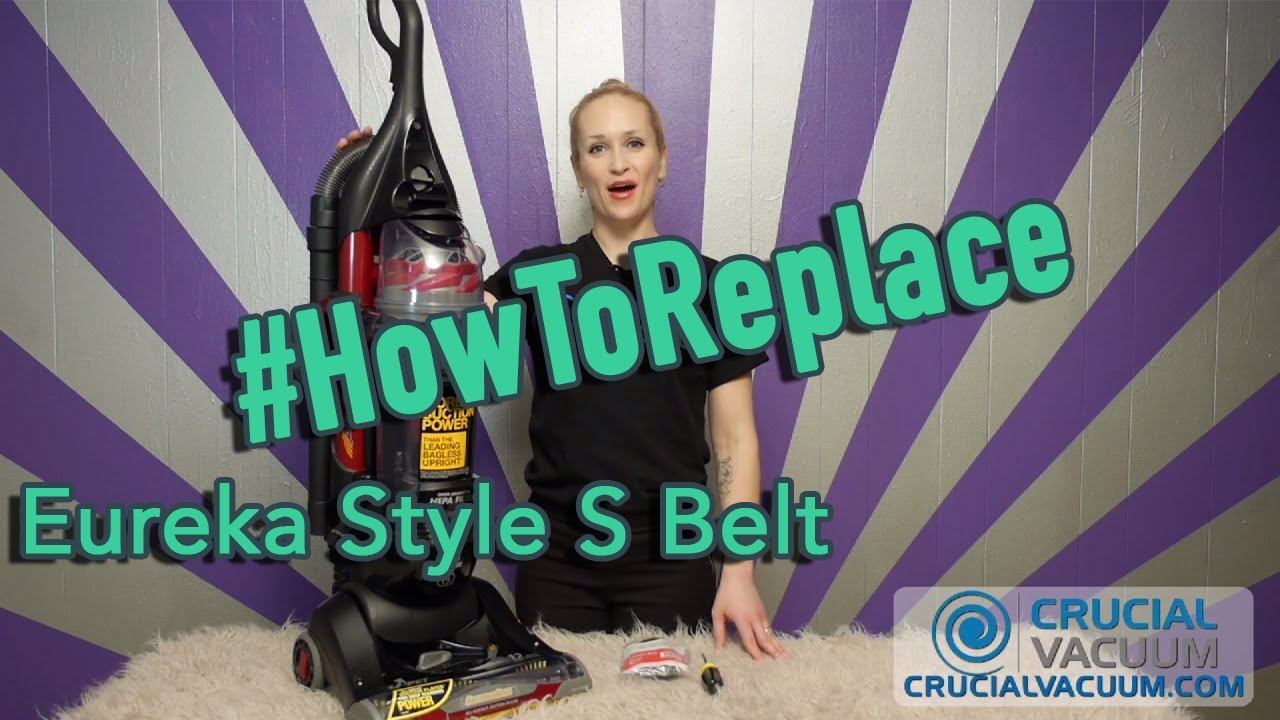 How to Replace Your Eureka Style S Belt Part 84756 YouTube