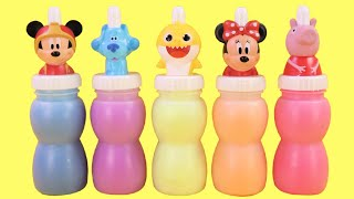 Learn Colors with Slime Surprises, Minnie & Mickey Mouse