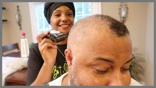 SHAVING MY HUSBAND'S HAIR BALD / THE BIG CHOP
