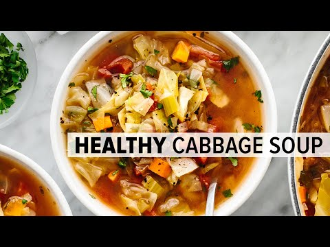 CABBAGE SOUP   super easy, vegetarian soup for a healthy diet