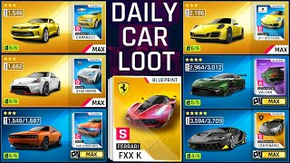 Asphalt 9 Daily Car Loot Reward Cars (CAMARO,370Z,SRT8,911 GTS,VULCAN,CENTENARIO,FXX K)