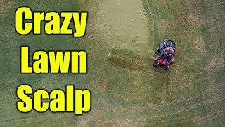 Fall Bermuda Lawn Scalp - Crazy Lawn Day