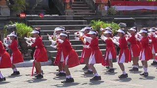 Lomba Gerak Jalan Indah Putri SD 1 Petak Kaja Nomor 18 Th 2019 HUT RI Ke 74