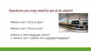 英文旅遊_ 在機場您需要知道的問題有哪些呢?